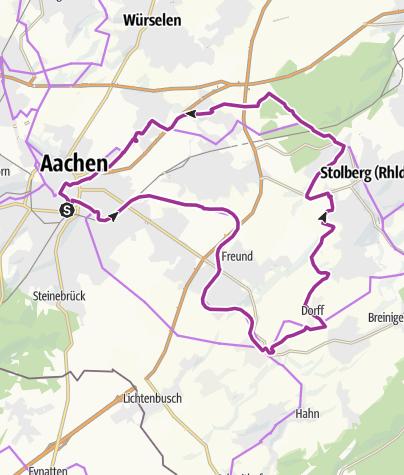 Karte / Stahl-& Kupfer-Route - Über die Vennbahn zu Inde und Wurm