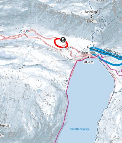 Karte / Nr. 4: Silvretta-Höhenloipe, klein