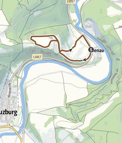 """Karte / Mountainbiketour - """"Panoramastrecke Ebenau im Werratal"""" bei Eisenach"""
