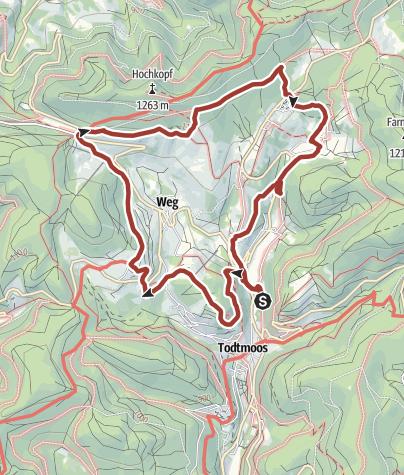 Map / Todtmoos: Genießerpfad – Todtmooser Lebküchlerweg