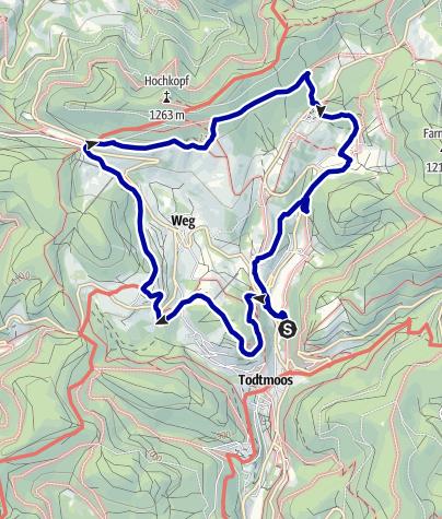 Map / Genießerpfad - Todtmooser Lebküchlerweg