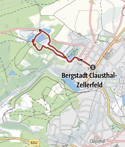 Karte / Bergbau-Rallye mit eGuide Emil