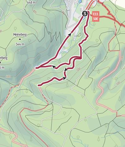 Karte / Auf den Ilsestein