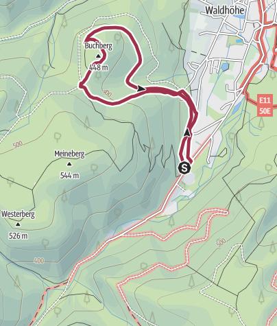Karte / Auf dem Borkenkäferpfad