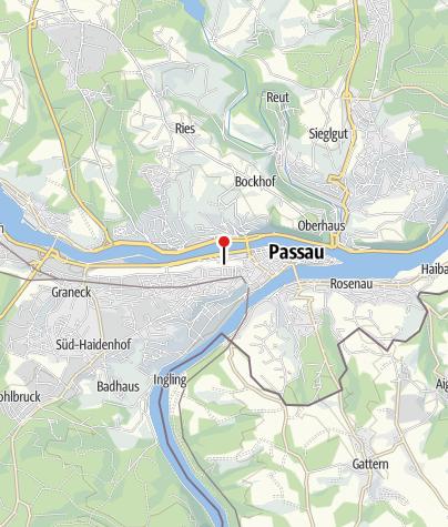Karte / Donauradweg: Mit dem Fahrrad entlang der Donau von Passau bis nach Wien