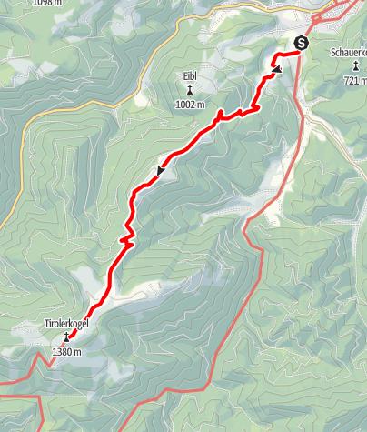 Karte / Tirolerkogel von Türnitz