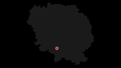 Carte / Les landes et tourbières de la Mazure