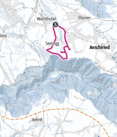 Karte / Weihnachtsweg Aeschi