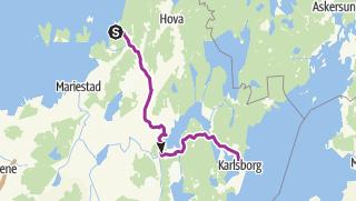 Karte / Familienfreundliche Radtour entlag des Göta-Kanals