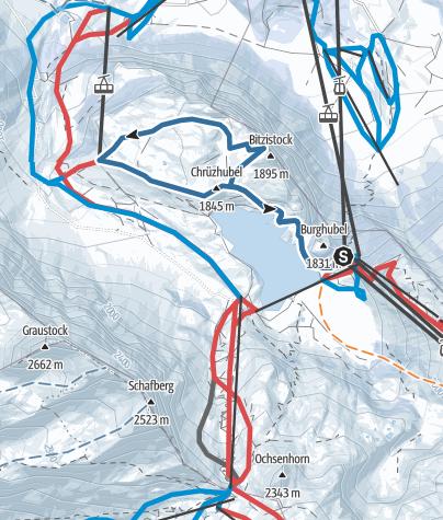 Karte / Trübsee (Obertrübsee-Hüethütte-Trübsee Station)