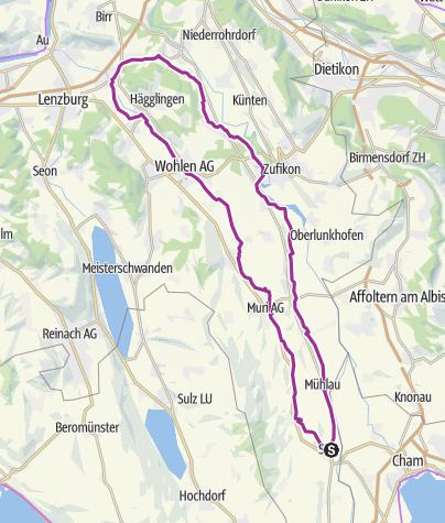 Karte / Freiämter Veloweg