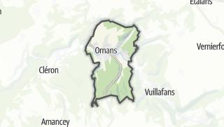 Mapa / Ornans