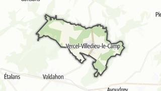 Térkép / Vercel-Villedieu-le-Camp