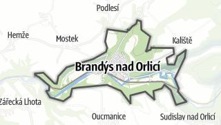 Hartă / Brandýs nad Orlicí