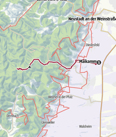 Karte / 06 Heldenstein - Vom Bahnhhof Kirrweiler zu Platz 6 Heldenstein
