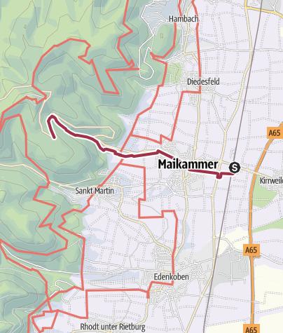 Karte / 07 Kalmit - Vom Bahnhof Kirrweiler zu Platz Nr. 7 auf der Kalmit