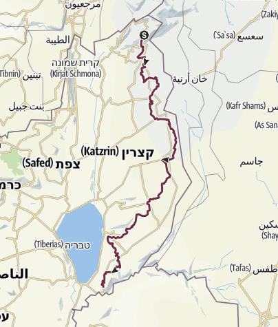 מפה / שביל הגולן