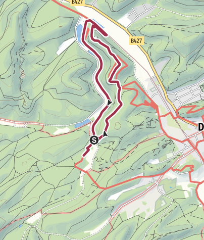 Karte / Spazierwanderweg Burg Neudahn-Tour
