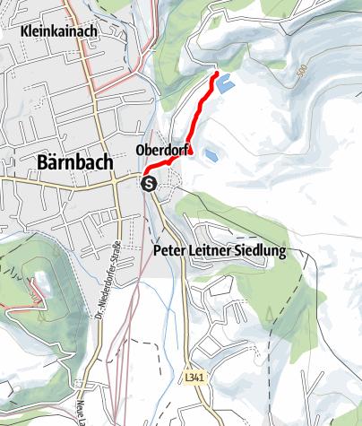 """Karte / """"Braunes Gold"""" - Montanhistorischer Wanderweg Bärnbach"""