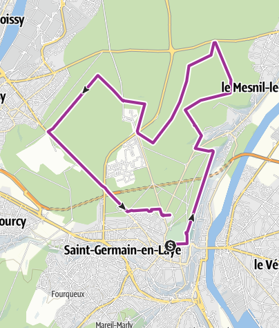 Map / Cycling itinerary in Saint-Germain forest