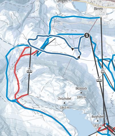 Karte / Gerschnialp-Untertrübsee Trail
