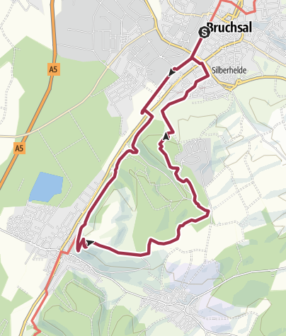 Karte / Rundwanderung entlang von Streuobstwiesen und Reben auf den Michaelsberg