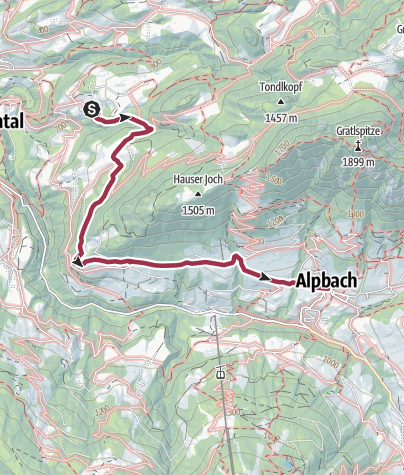 Map / Day 3: 3-day Alpbachtal family tour