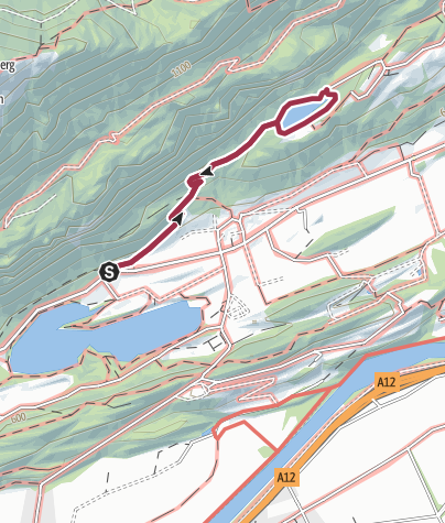 Map / Lake Berglstein - Leichter Lernen Wanderweg