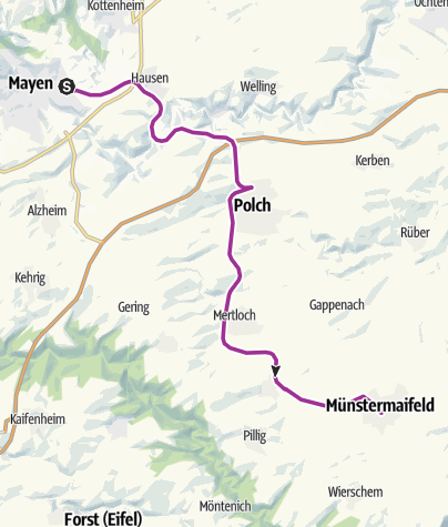 Karte / Maifeld-Radweg (Mayen-Polch-Münstermaifeld)
