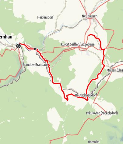 Karte / Tour zu zwei Berggipfeln
