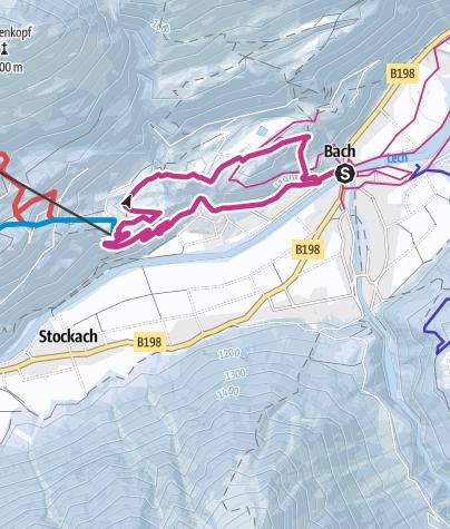 Karte / Sonnenseitenrunde im Lechtal