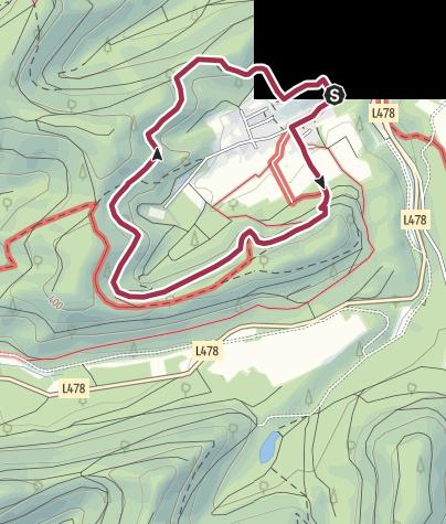 Karte / Spazierwanderweg Panoramaweg