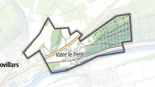 Mapa / Vaire-le-Petit