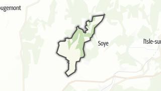 Mapa / Gondenans-Montby