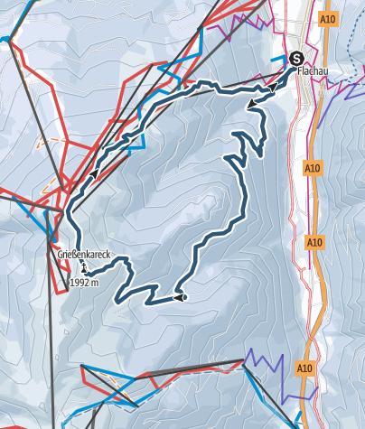 Karte / Grießenkareck 1991m Überschreitung