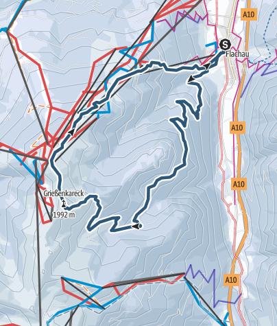 Karte Griessenkareck 1991m Berschreitung