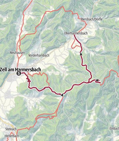 Karte / Zell a. H. - Brandenkopftour