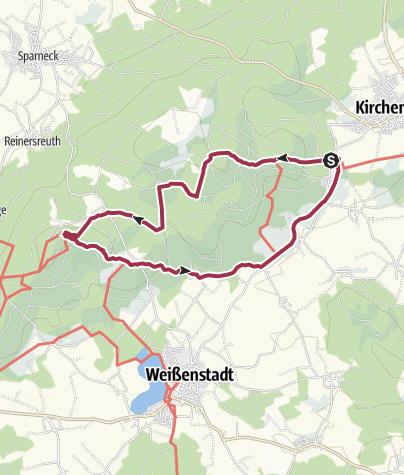 Karte / Großer Waldstein im Fichtelgebirge