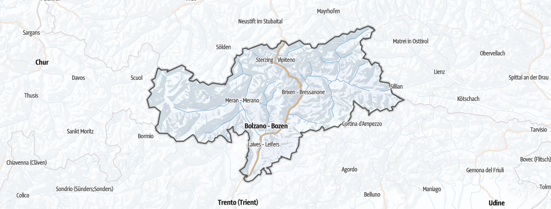 Mapa / Esportes de Inverno em Südtirol