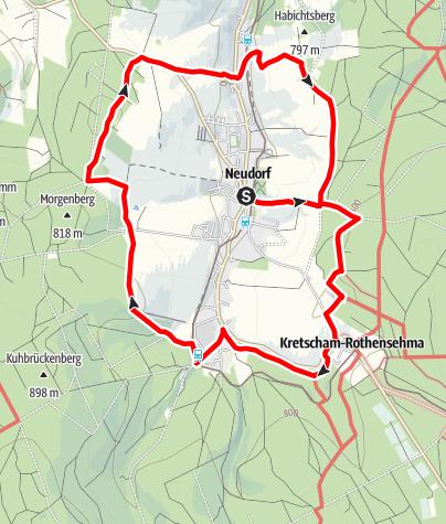 Karte / Rund um das Suppenland Neudorf