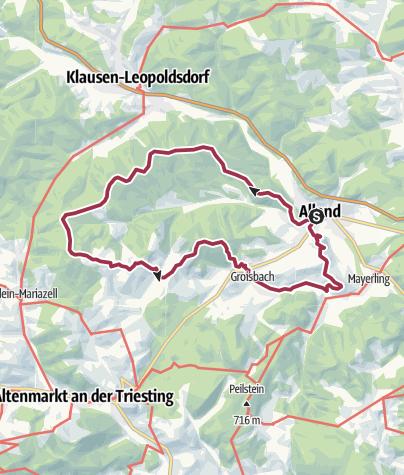 Map / Allander Kuhberge (701 m) samt Kritschenkogel mit Buchberg (478m)