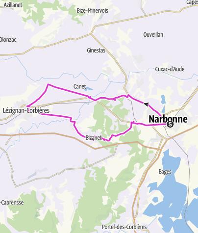 Mapa / De Narbonne à Lézignan Corbières : les vins d'équilibre