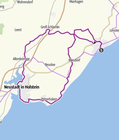 Karte / Mittelalterliche Tour