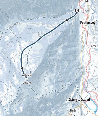 Map / Feutersoey – Walighürli (2049 M.a.s.l)