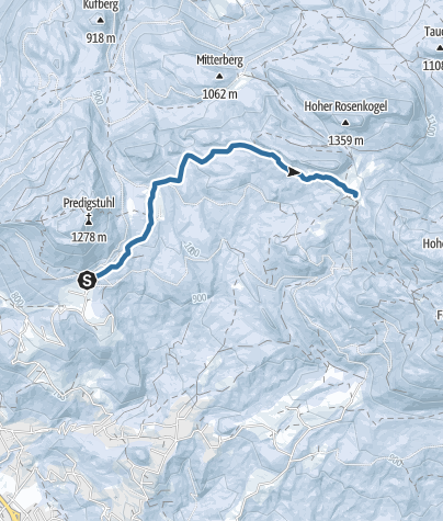 Map / Ski Tour to the Hütteneckalm