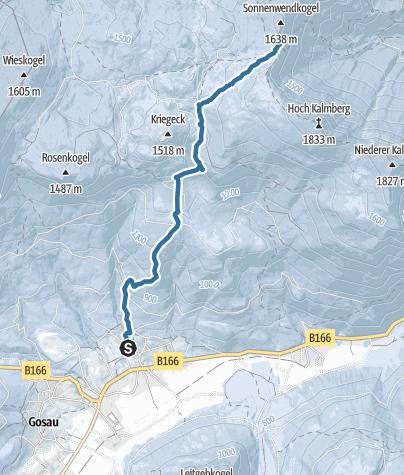 Karte / Ski- und Schneeschuhtour auf die Goisererhütte