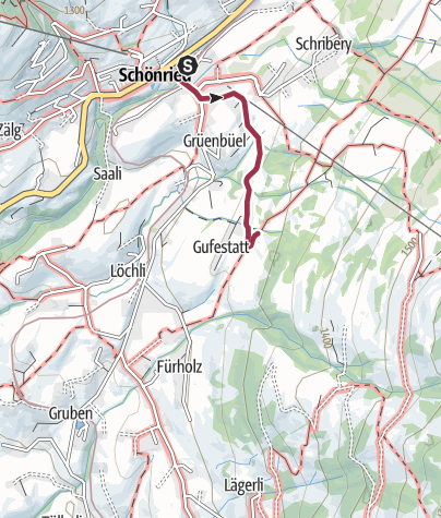 Map / Hiking trail to the Fondue Caquelon Schlittmoos