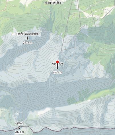 Karte / Klettersteigführung auf die Alpspitze