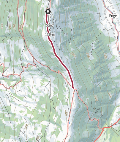 Map / Hiking trail to the Fondue Caquelon Wispile