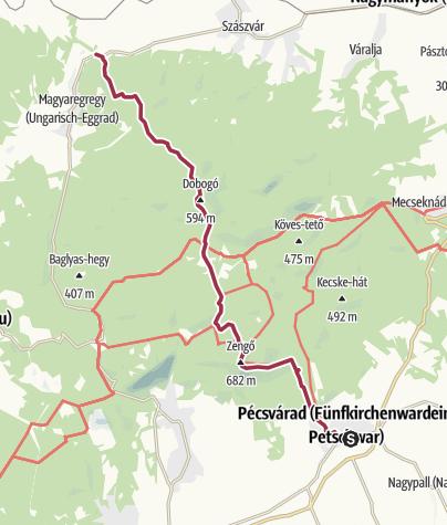 Térkép / Pécsváradról Kárászra a Zengőn át